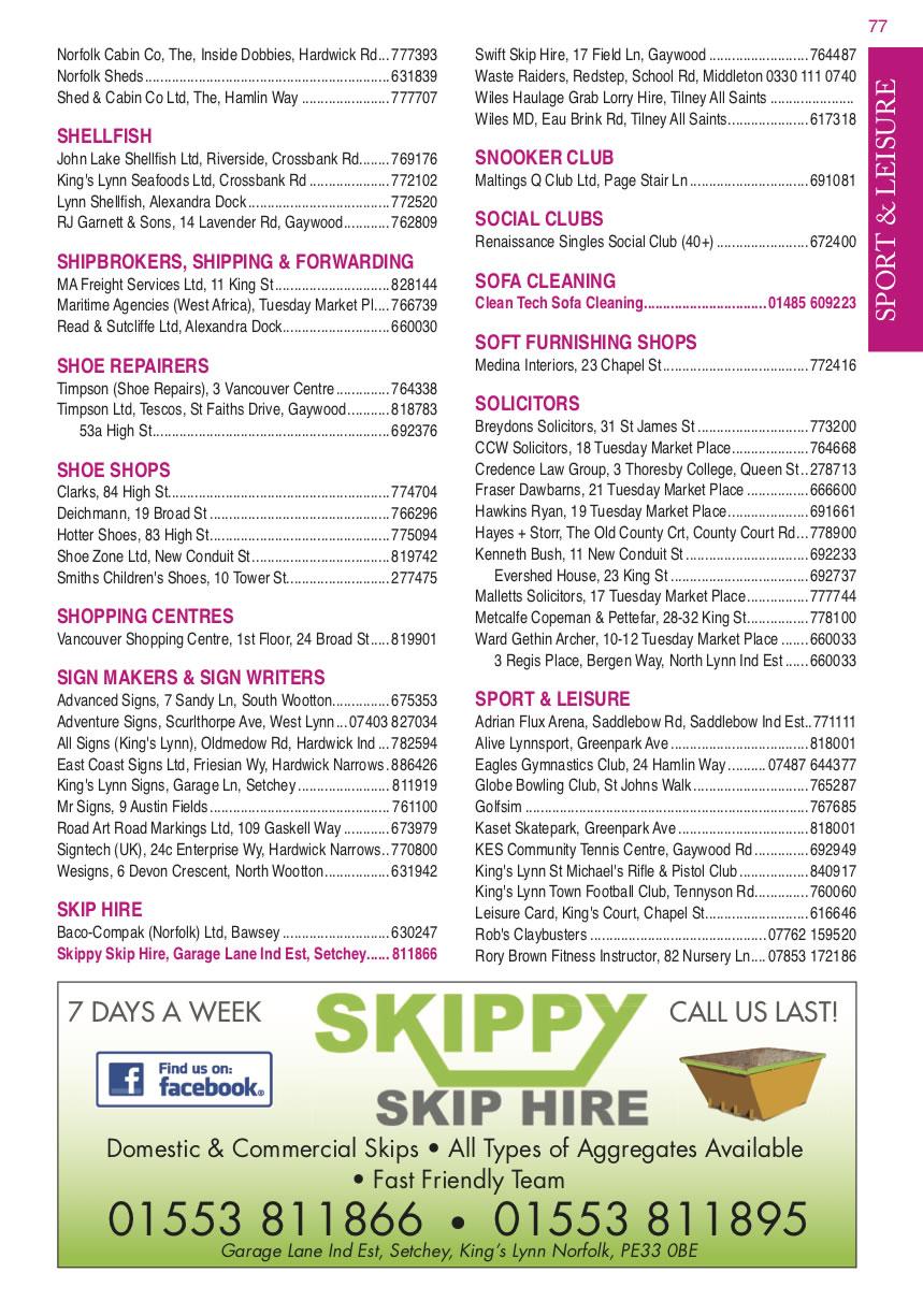 King's Lynn Pink Local Directory - Plumbers, Plumbers