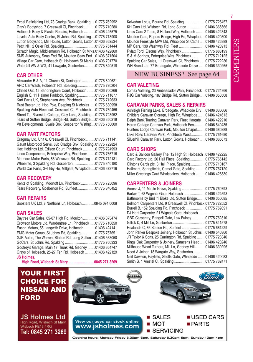 Local Business Directory for Spalding and Holbeach - Car Body ...